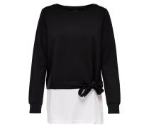 Detailreiches Sweatshirt schwarz