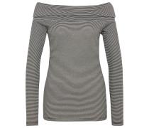 Carmen-Shirt in Ripp-Optik grau