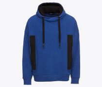 Hoodie 'Docen' blau / schwarz