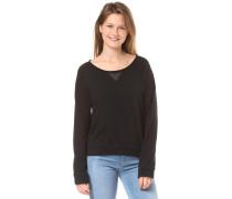 'She is Morning' Sweatshirt schwarz