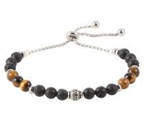 Armband 'Bead' braun / schwarz