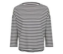 Shirt nachtblau / weiß