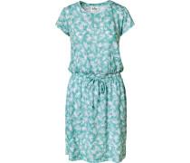 Kleid petrol / weiß