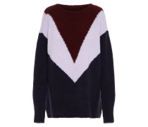 Pullover graumeliert / rot / weißmeliert