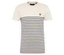 T-Shirt 'Breton' creme / nachtblau