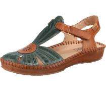 Sandalen pastellblau / braun