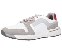 Sneaker greige / rot / weiß