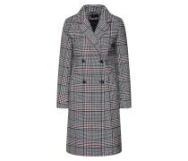 Mantel dunkelgrau / schwarz / weiß