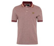 Poloshirt 'Oxford Tipped' weinrot