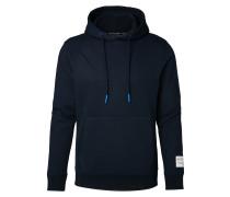 Hoodie nachtblau / weiß