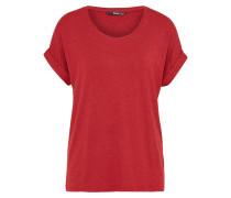 Lässiges T-Shirt rot