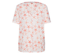 Bluse 'Popeline' lachs / offwhite
