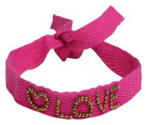 Armbändchen 'Message' pink