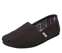 Canvas-Slipper 'alpargata' schwarz