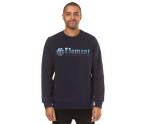 Horizontal Fill Crew Sweatshirt navy