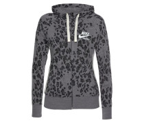 Sweatjacke grau / anthrazit