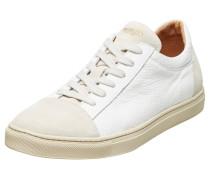 Leder Sneaker beige / weiß