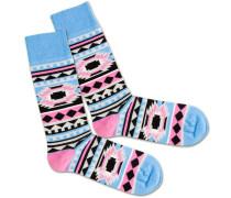 Socken 'Native Princess' blau / pink