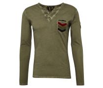 Langarmshirt 'mls GUN button' khaki