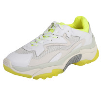 Sneaker 'addict' gelb / weiß