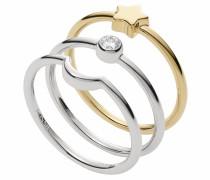 Ring-Set 'Halbmond Sterne' (Set 3 tlg.)