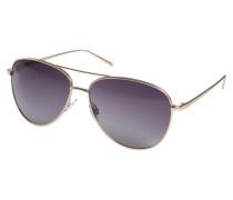 Sonnenbrille 'Nani' gold / grau