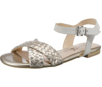Sandalen gold / weiß