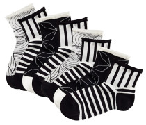 Kurzsocken (4 Paar) schwarz / weiß