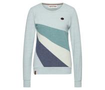 Sweatshirt blau / mint / pastellgrün