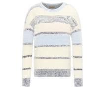 Pullover kobaltblau / opal / naturweiß
