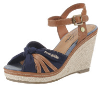 Sandaletten dunkelblau / braun
