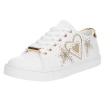 Sneaker 'swink' gold / weiß