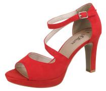 Sandalette 'Strappy Heel' rot