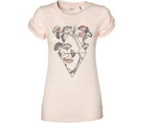 T-Shirt 'LW Castle Peak' hellgrau / rosa