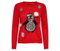 Pullover 'onlX-MAS Penguin L/S Pullover Knt'