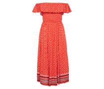Off-Shoulder-Kleid 'ruffle Smocked Dress'