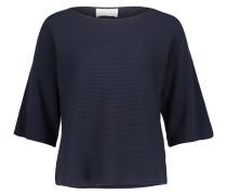 Basic-Pullover dunkelblau