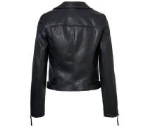 Kurze Kunst Lederjacke schwarz