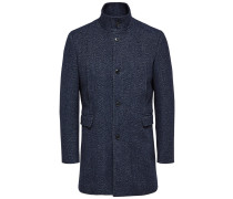 Mantel blaumeliert