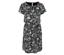 Print-Kleid schwarz / weiß