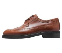 Schuhe 'Brogue Derby' cognac