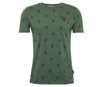 Shirt 'Fuck' grün