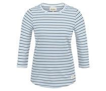 3/4-Arm-Shirt 'Helene' blau / weiß