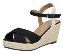 Sandale schwarz / beige