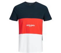 T-Shirt nachtblau / rot / weiß