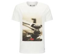 T-Shirt schlammfarben / naturweiß