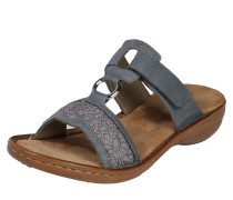 Slipper 'Sandale steg' blau / grau