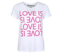Shirt pink / weiß