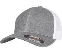 Retro Trucker Cap graumeliert / weiß