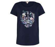 T-Shirt 'Floral Anchor ' navy